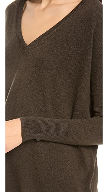 Vince Relaxed Cashmere Double V Sweater