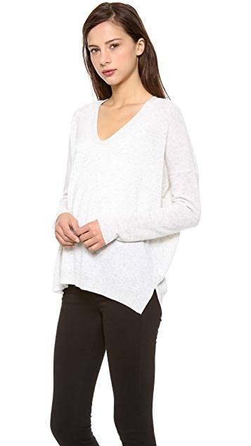 Vince Rack Stitch Cashmere Sweater