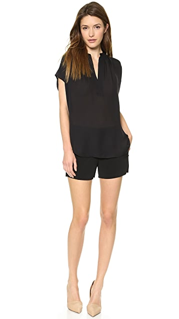 Vince Cap Sleeve Popover