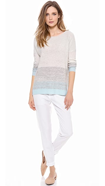 Vince Degrade Stripe Cashmere Sweater
