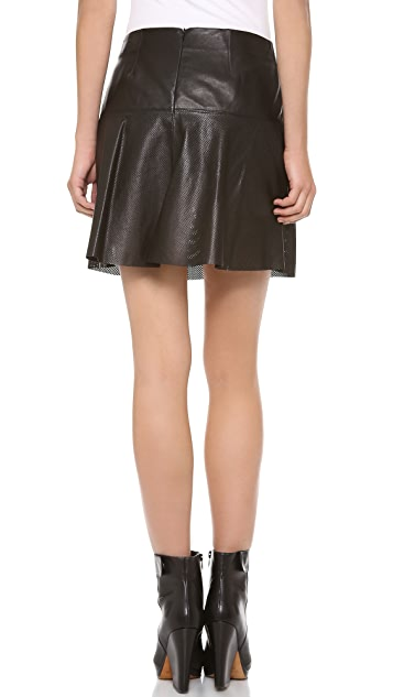 Vince Perforated Leather Skirt