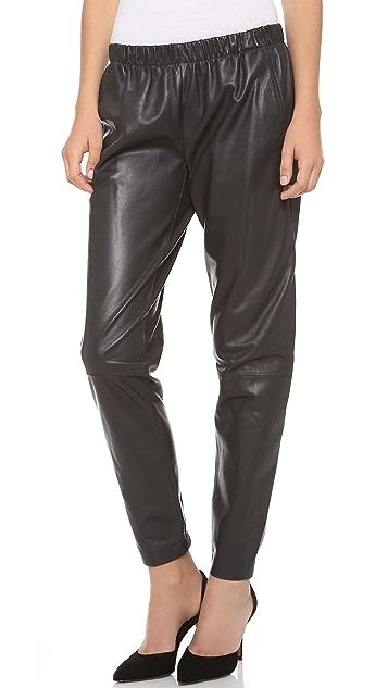 Vince Wrap Seam Leather Pants