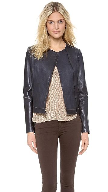 Vince Bonded Leather Jacket