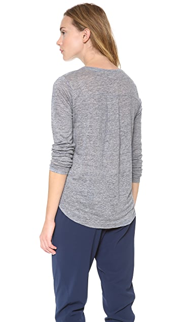 Vince Solid Long Sleeve Tee