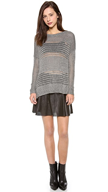 Vince Shadow Stripe Boat Neck Sweater