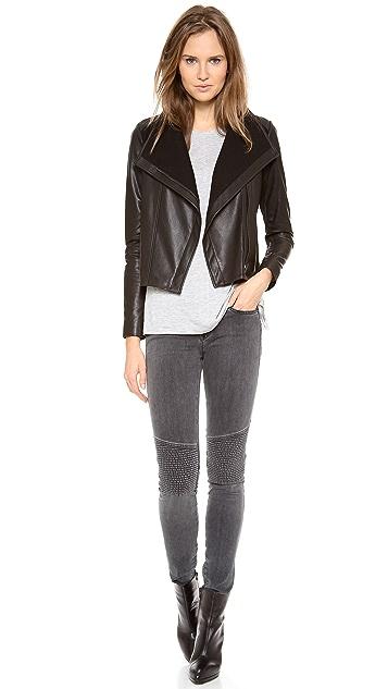 Vince Side Zip Leather Jacket