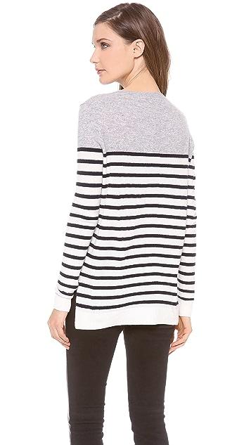 Vince Colorblock Breton Cashmere Sweater