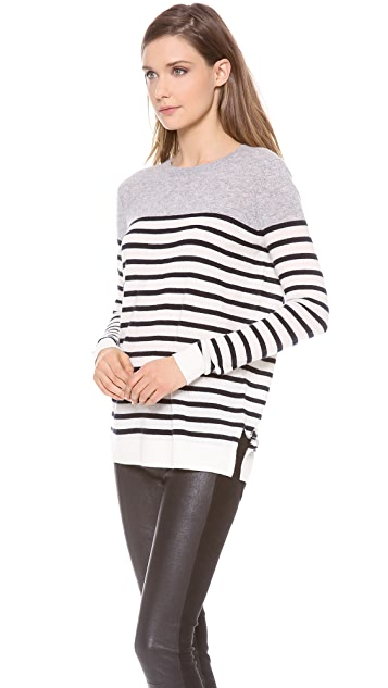 Vince Colorblock Breton Cashmere Sweater
