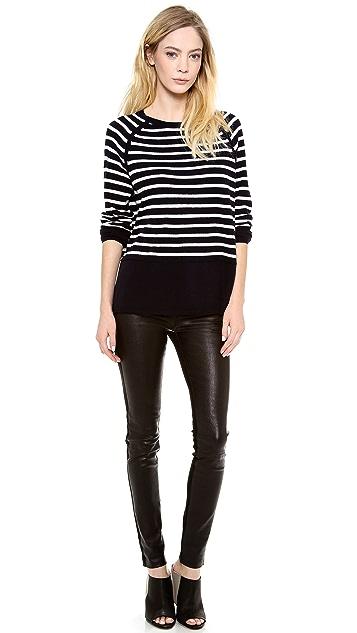 Vince Breton Stripe Cashmere Sweater