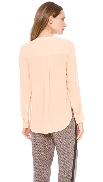 Vince Half Placket Summer Blouse