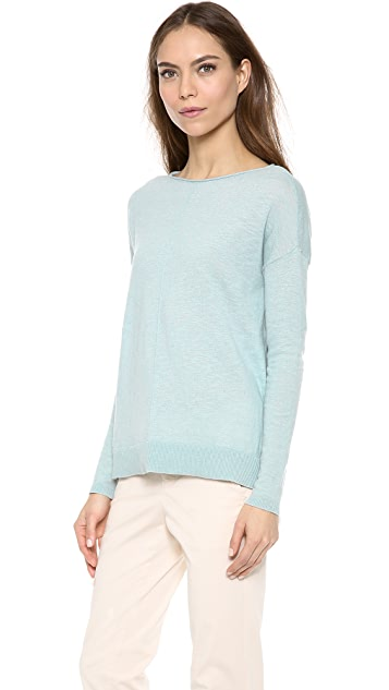 Vince Cotton Slub Roll Neck Sweater
