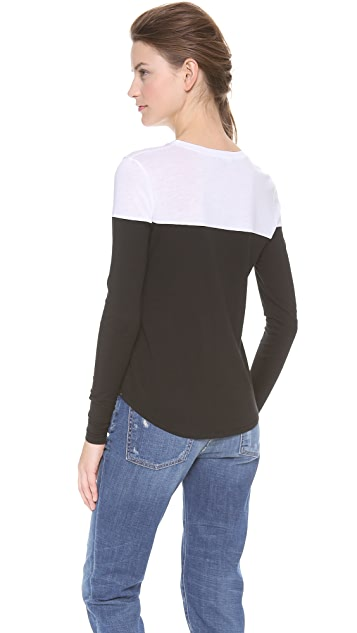 Vince Long Sleeve Colorblock Tee