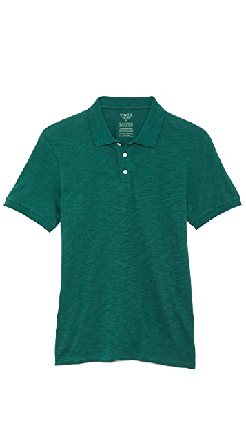 Vince Short Sleeve Slub Polo