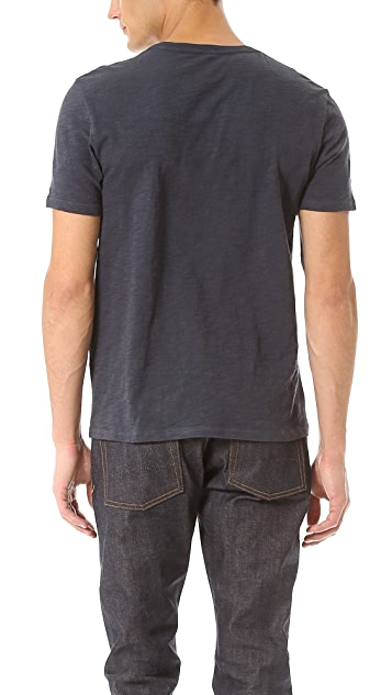 Vince Slub V Neck T-Shirt