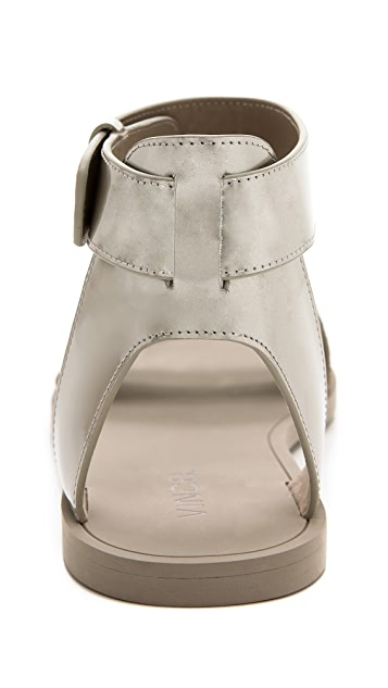 Vince Sawyer Flat Sandals with Ankle Strap