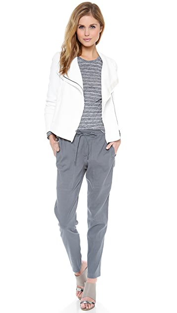 Vince Frayed Edge Scuba Jacket
