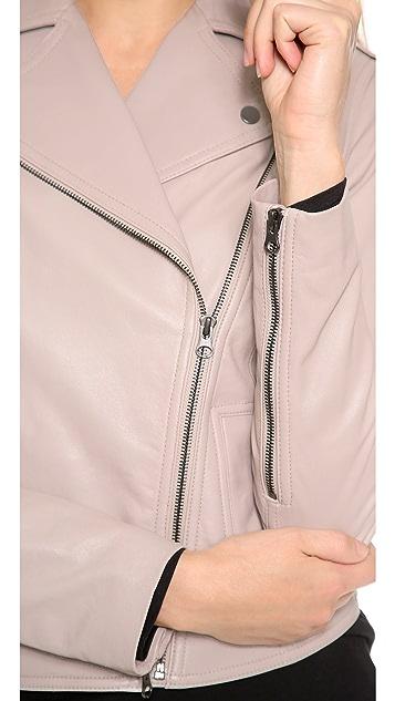 Vince Vintage Leather Moto Jacket