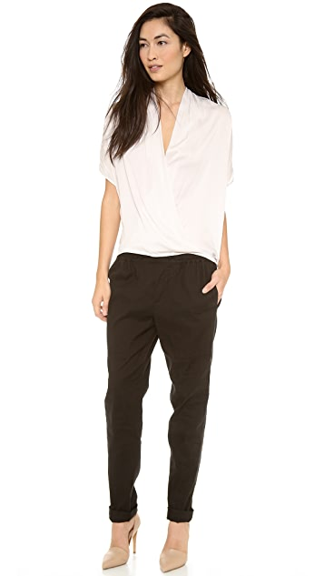 Vince Short Sleeve Wrap Blouse