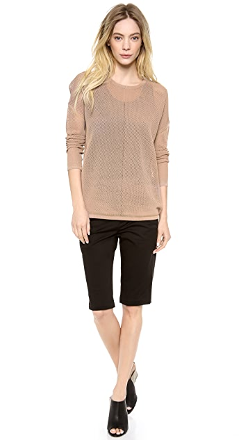 Vince Mesh Inset Oversized Sweater