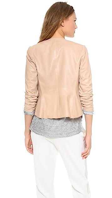 Vince Engineered Perf Leather Jacket