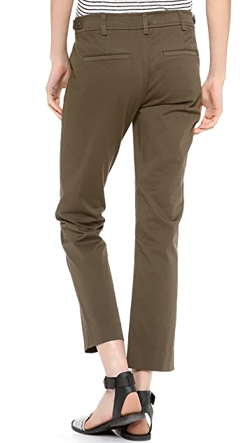 Vince Side Tab Crop Trousers