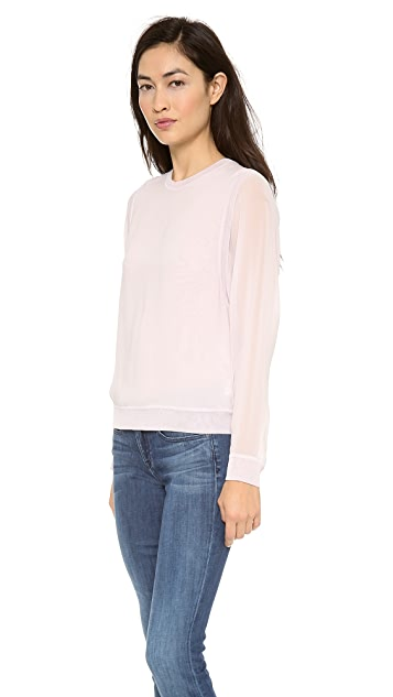 Vince Silk Sweatshirt