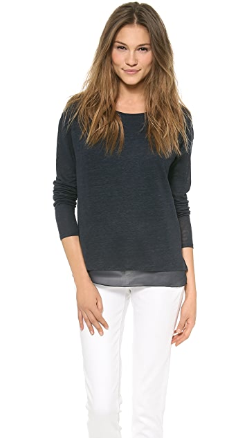 Vince Double Layer Long Sleeve Tee