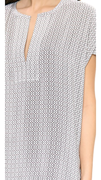 Vince Printed Trapunto Dress