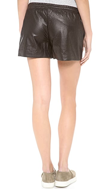 Vince Perforated Leather Boxer Shorts