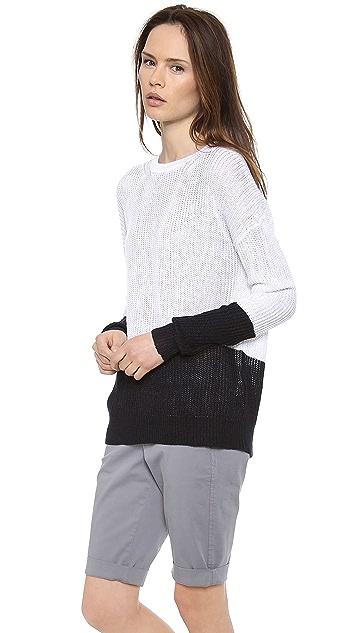 Vince Colorblock Linen Sweater