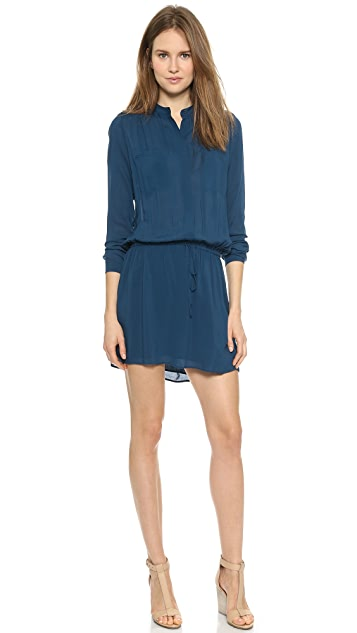 Vince Shirred Shoulder Shirtdress