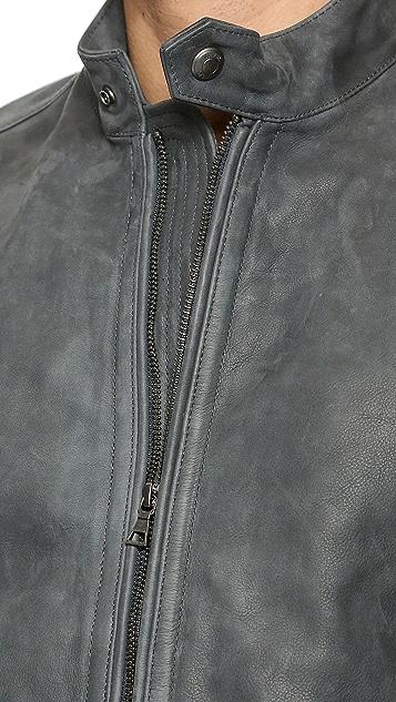 Vince Waxed Nubuck Moto Jacket