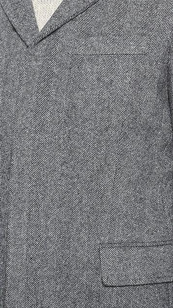 Vince Herringbone Wool Topcoat