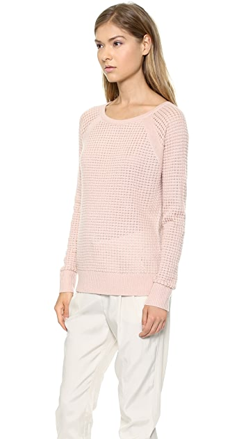 Vince Raglan Thermal Cashmere Sweater