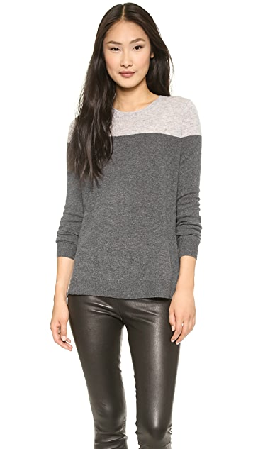 Vince Colorblock Crew Cashmere Sweater