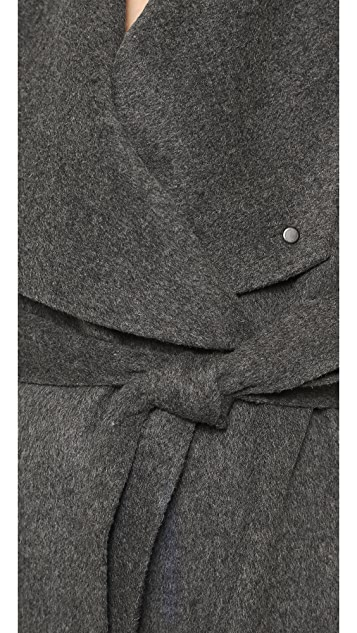 Vince Leather Trimmed Car Coat