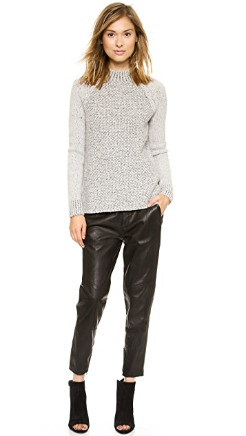 Vince Moto Leather Pants