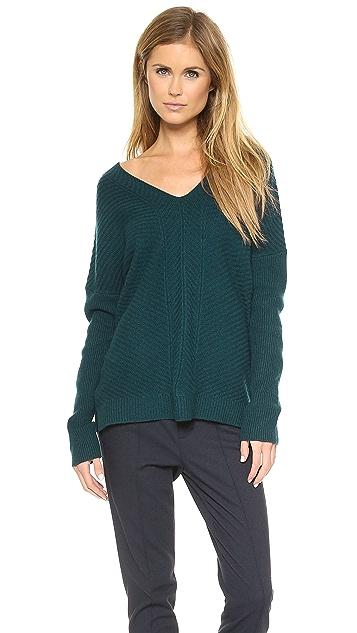 Vince Chevron Double V Sweater