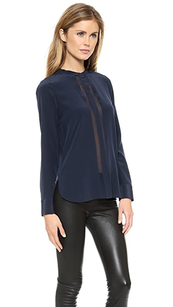 Vince Long Sleeve Button Up Blouse