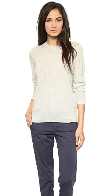 Vince Pointelle Trim Cashmere Sweater