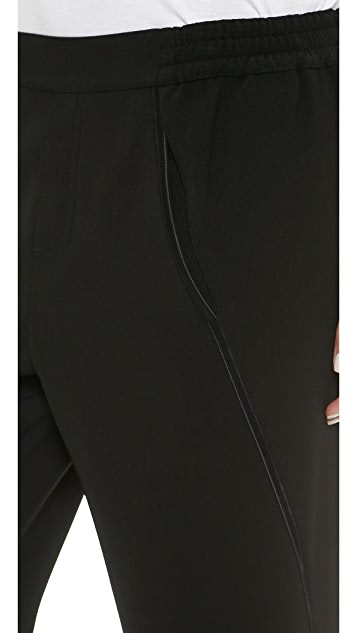 Vince Satin Piped Wrap Seam Pants