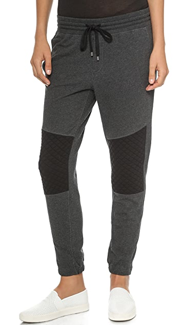 Vince Quilted Detail Sweatpants