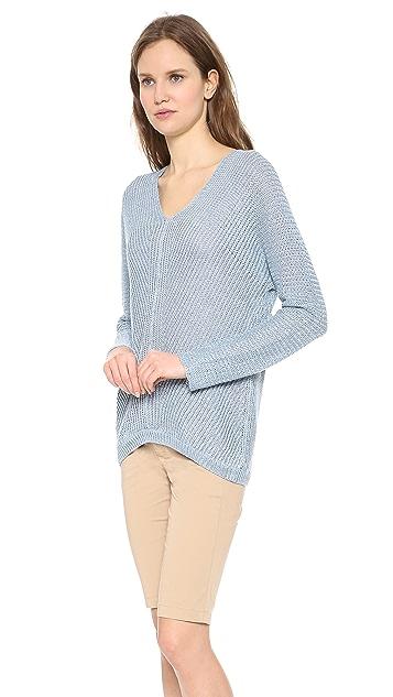 Vince Linen V Neck Sweater