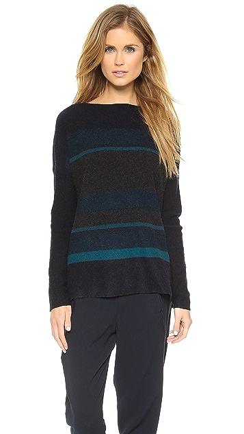 Vince Variegated Marled Boat Neck Sweater