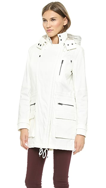 Vince Quilted Parka with Fur Trim