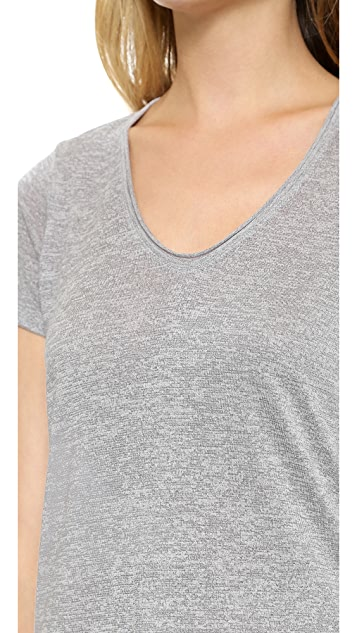 Vince V Neck Shirttail Tee