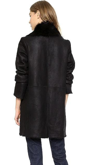 Vince Asymmetrical Shearling Coat