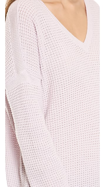 Vince Thermal Double V Sweater