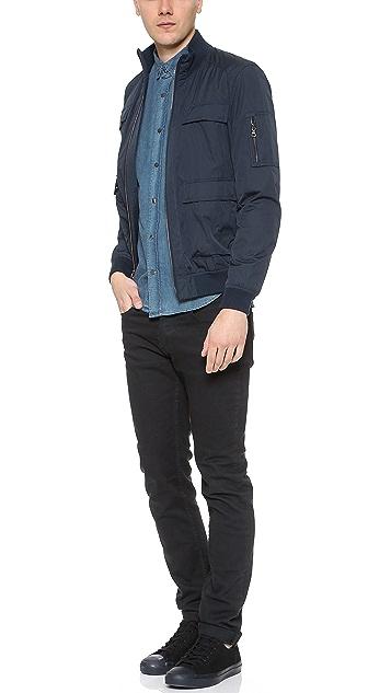 Vince Pocketed Flight Bomber Jacket