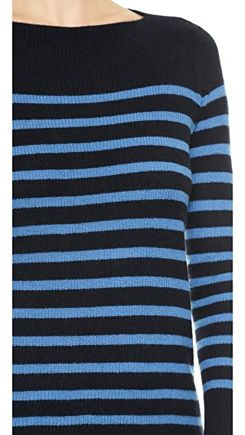 Vince Ribbed Stripe Cashmere Sweater